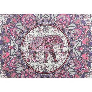 Indian Elephant Tapestry Mandala