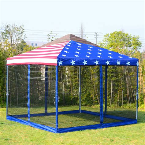 patio pop party tent canopy mosquito net flag gazebo sidewall ebay