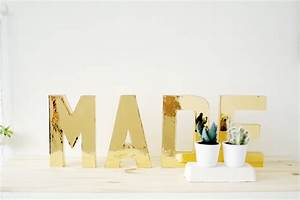diy solid gold letters fall for diy With contact paper letters