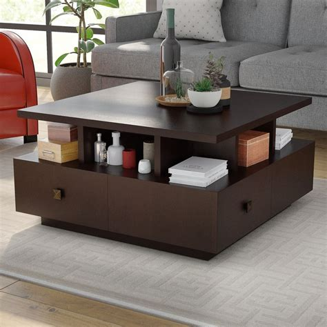 coffee tables that open up latitude run square coffee table reviews wayfair 8242