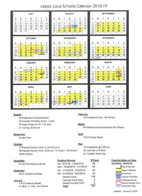 leipsic local schools calendar publicholidaysus