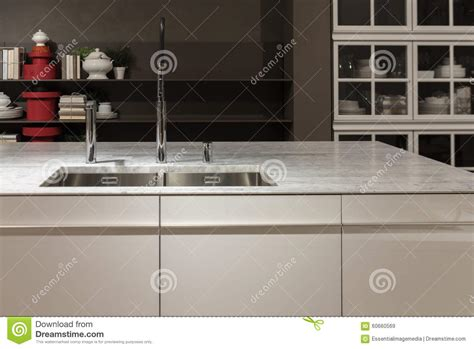 kitchen sink with marble top marble top kitchen sink stock photo image 60660569