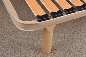 Cadre à Lattes : pied bois caribou pour cadre lattes fixation verticale ~ Teatrodelosmanantiales.com Idées de Décoration