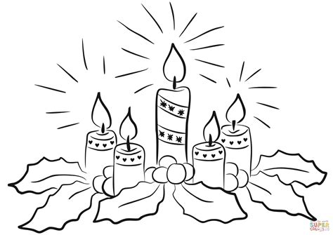 advent candles coloring page  printable coloring pages