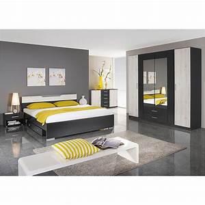 Schlafzimmer Weiß Grau : schlafzimmer set cartagena bett nako schrank grau metallic eiche sanremo wei ebay ~ Frokenaadalensverden.com Haus und Dekorationen