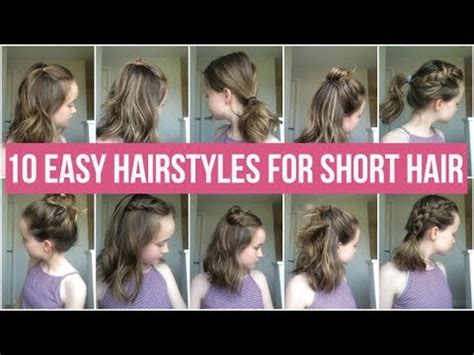 easy hairstyles  short hair quick  simple hairstyles  school youtube