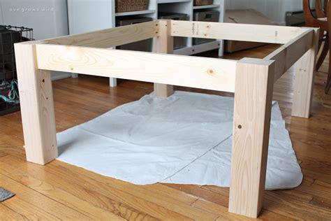 how to make table legs from wood diy farmhouse coffee table love grows wild