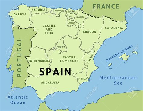 map  spain autonomous communities  travel information