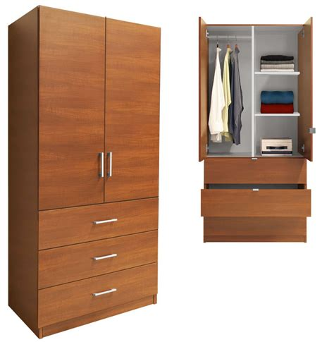 Wooden Wardrobe With Shelves by Alta Armoire Wood