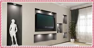 Gypsum Tv Wall Unit Idea ~ crowdbuild for