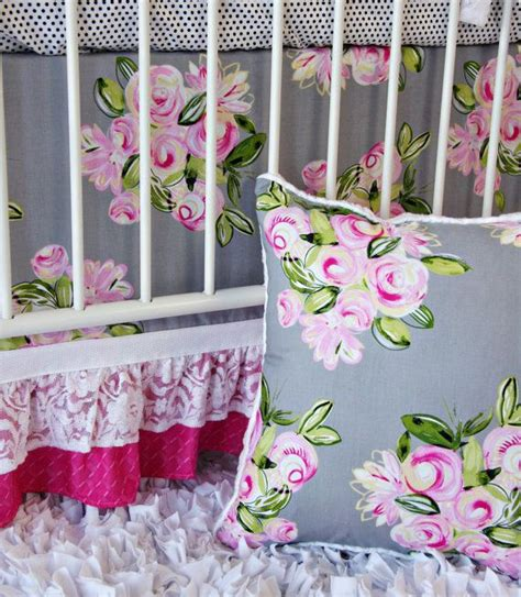 crib sets for crib skirt pattern vintage floral baby bedding set by