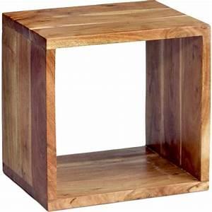 Etagere Murale En Bois : i etag re murale en bois style scandinave cube bois ~ Dailycaller-alerts.com Idées de Décoration