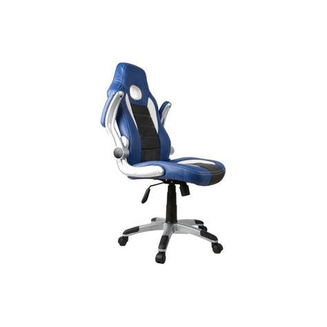 fauteuil bureau racer fauteuil de bureau sport racing bleu et noir
