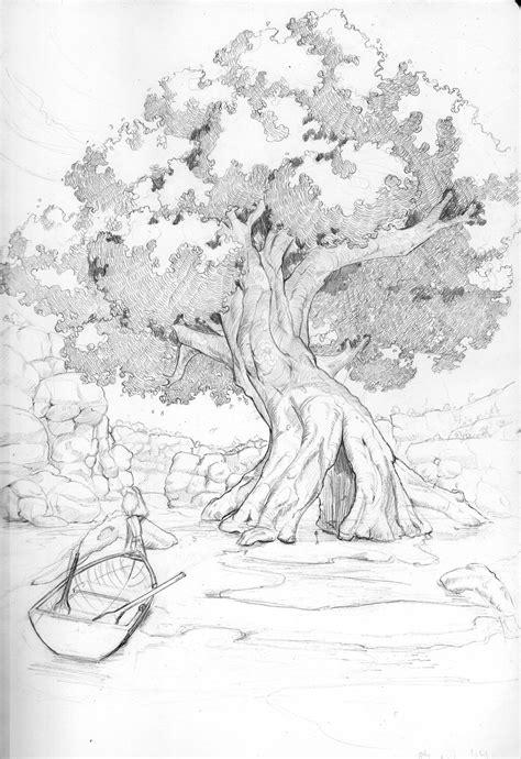 Anime Tree Drawing Manga Style Tree Wiptiny Raven On