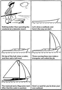 How To Draw A Mini Boat by How To Draw A Sailboat Drawing Lesson