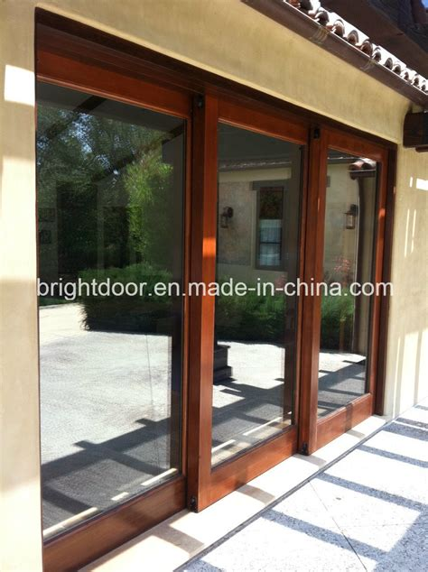China Aluminum Door Profile 3 Paneltriple Sliding Glass
