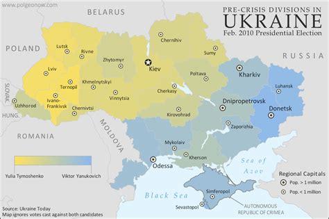 sharply divided  ukraine  honest maps