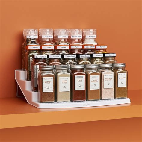 24 Spice Rack by Youcopia Spicesteps 24 Bottle Cabinet Spice Rack