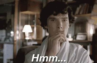 Tenor Hmm Gifs Stallion Thinking Holmes Sherlock