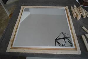 lining up wood mirror frame • Our House Now a Home