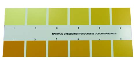 color standards nci cheese color standard chart