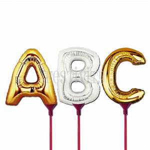 letter foil balloons in gold or silver festivity With foil letter balloons silver