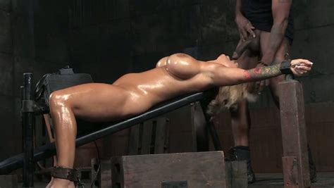 Juicy And Busty Blonde Cougar Oiled Up And Restrained For BDSM Oral Sex Mylust Com Video