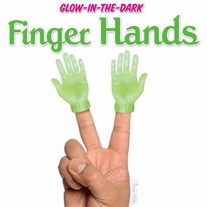 Finger Hands Dark Glow Puppets Hand Human