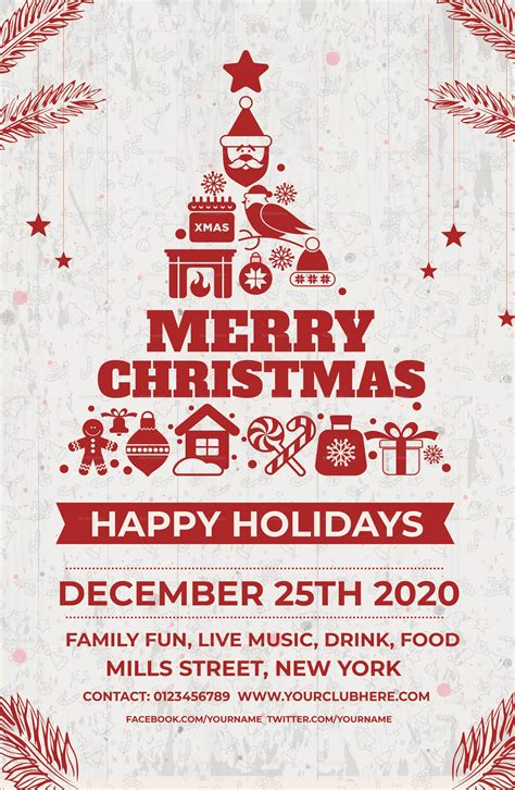 christmas holiday poster template  adobe photoshop