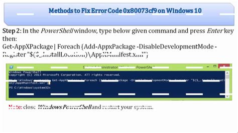 fix error 0x80073cf9 while installing apps from windows
