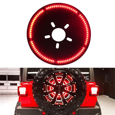 jeep wrangler jl jlu  brake light ring led spare