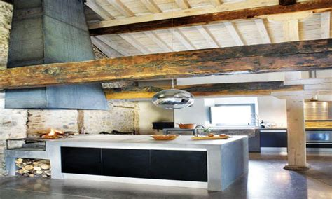 rustic farmhouse kitchens rustic  modern kitchen rustic modern home plans treesranchcom