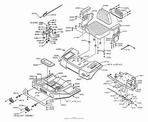 Dixon Ztr 4421  1994  Parts Diagram For Body Assembly