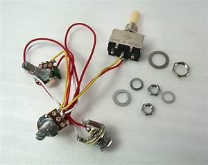 Wiring Harness Volume Tone 3 Way Toggle Out Jack Complete
