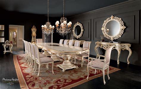 tavolo sala pranzo sala da pranzo con consolle traforate e tavolo in legno
