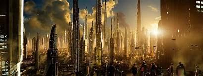 Future Futuristic Sci Fi Landscape Fiction Science