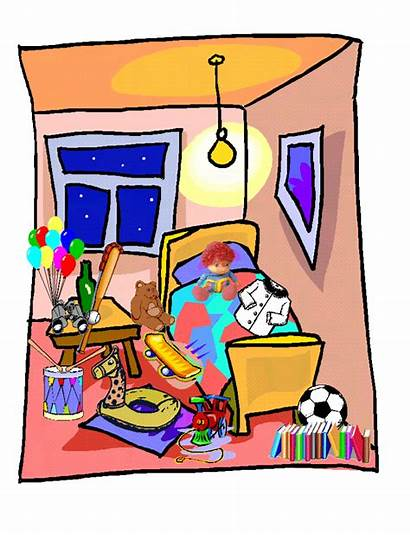 Messy Clipart Clip Bedroom Cliparts Untidy Bed