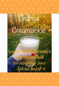 herbalife shake recipe vanilla formula 1 orange