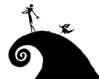 Bundlesvg.com is the right place. Jack And Sally Silhouette at GetDrawings   Free download