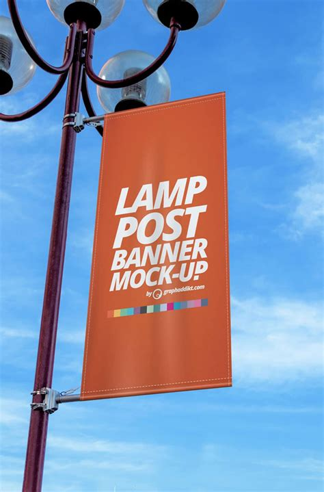 1000+ mockups in psd for free. Free Lamp Post Banner Mockup PSD » CSS Author