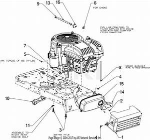 Troy Bilt Tb46 Hydro Tractor  13a879kt066   2016  Parts Diagram For Engine Accessories