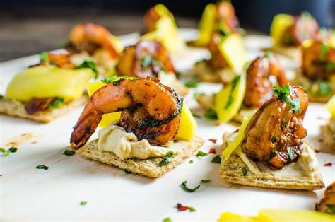 mango and grilled shrimp appetizers the flavor