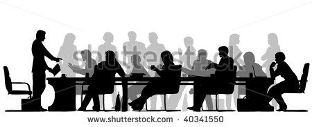 business meeting silhouette stock images royalty