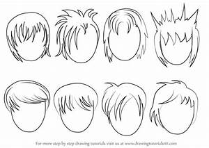 Learn How to Draw Anime Hair - Male (Hair) Step by Step ...