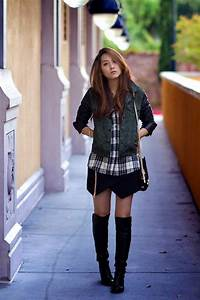 15 Style Ideas How To Wear Over The Knee Boots For Early Fall - Be Modish