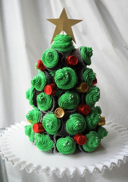 how to diy christmas tree cupcakes www fabartdiy com