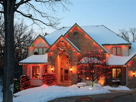 beautifully decorated  christmas season