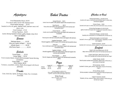 italian garden menu italian garden opens today here s the menu monti