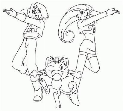 Rocket Coloring Team Pokemon Pages League Deviantart