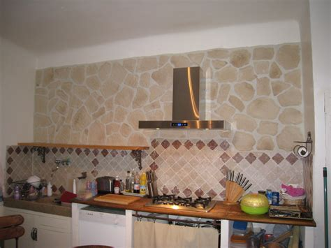 habillage de hotte de cuisine habillage mur photo 1 8 plaquettes de parement hotte